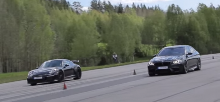Roll Race – Porsche 991 GT3 PDK vs tuned BMW M5 F10 – Video