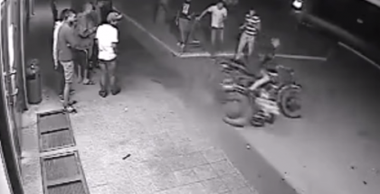 Russian drunk on a motorcycle, what could go wrong (2)