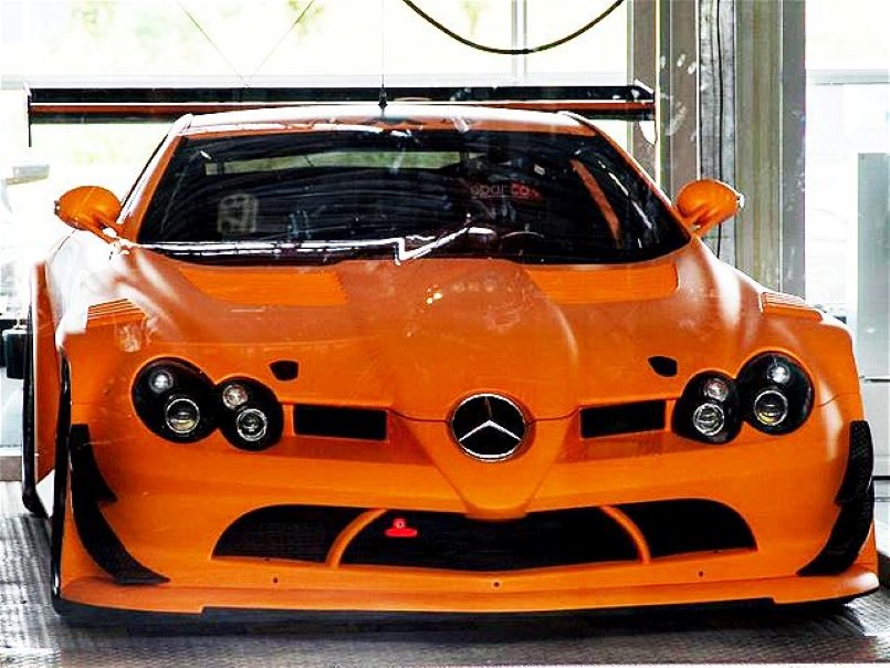 Super Rare Mercedes SLR 722 GT In Bright Orange | Mercedes