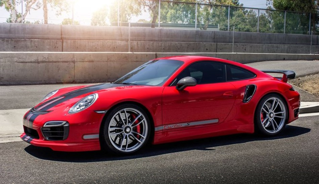 red porsche 991 turbo s by techart dpccars. Black Bedroom Furniture Sets. Home Design Ideas