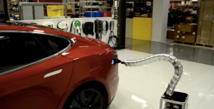 Tesla's Robot Snake Charger Is Scary