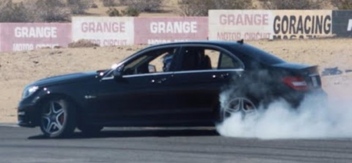 The Smoking Tire – Mercedes C63 AMG 6.2L – Video