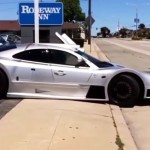 This is how you damage a super Rare Mercedes CLK GTR (2)