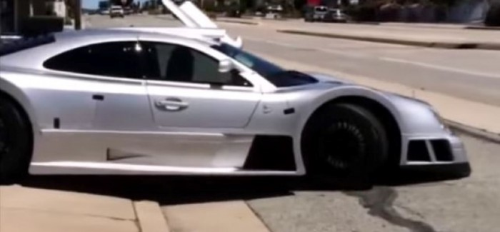 This is how you damage a super Rare Mercedes CLK GTR – Video