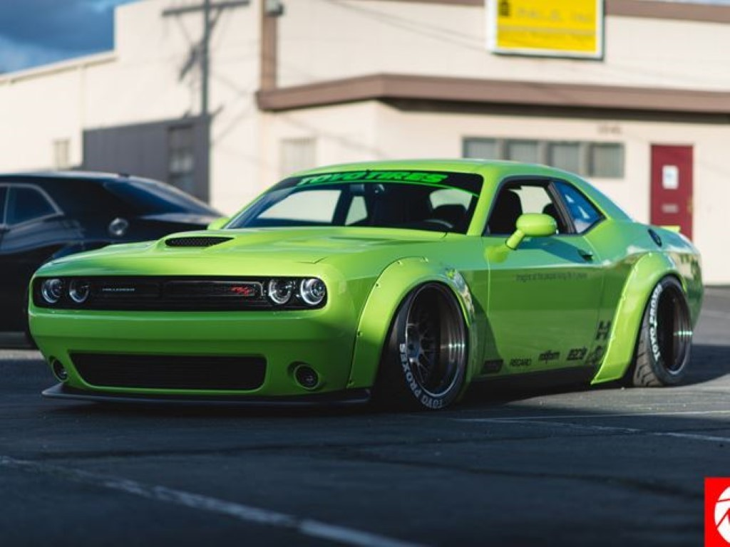 Widebody Liberty Walk Dodge Challenger Looks Overdone