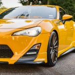 Yellow Scion FR-S with TRD Kit and Bronze Vossen Wheels (1)