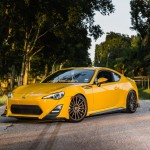 Yellow Scion FR-S with TRD Kit and Bronze Vossen Wheels (10)