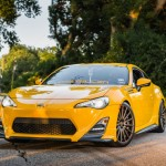 Yellow Scion FR-S with TRD Kit and Bronze Vossen Wheels (15)