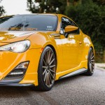 Yellow Scion FR-S with TRD Kit and Bronze Vossen Wheels (16)