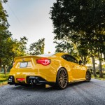 Yellow Scion FR-S with TRD Kit and Bronze Vossen Wheels (17)