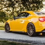 Yellow Scion FR-S with TRD Kit and Bronze Vossen Wheels (2)