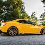 Yellow Scion FR-S with TRD Kit and Bronze Vossen Wheels (5)