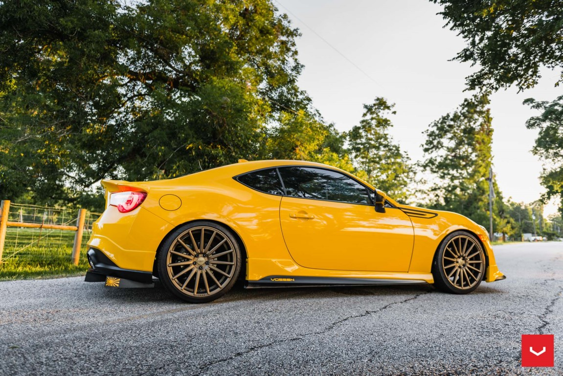 Yellow Scion FR-S with TRD Kit and Bronze Vossen Wheels ...