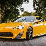 Yellow Scion FR-S with TRD Kit and Bronze Vossen Wheels (7)