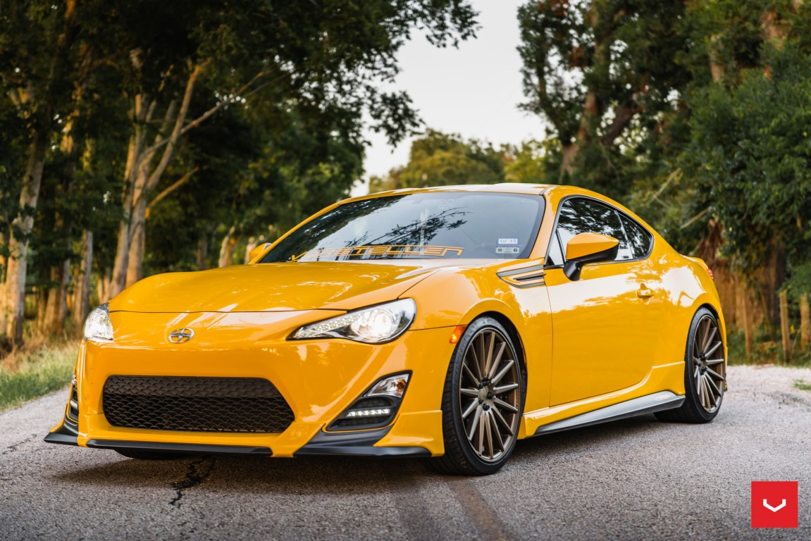 yellow scion fr s with trd kit and bronze vossen wheels dpccars. Black Bedroom Furniture Sets. Home Design Ideas