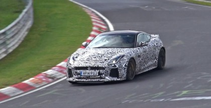 2016 Jaguar F-Type SVR Coupe spied with loud exhaust (2)