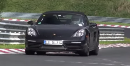 2016 Porsche 981 Boxster S MkII Spied at Nurburgring (1)