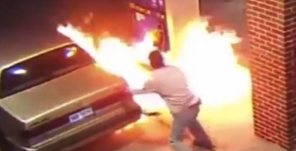 Arachnophobic man sets fire to his car and gas station to kill spider (2)