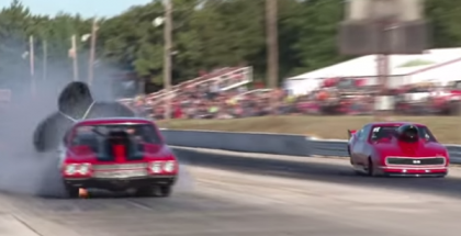 Chevelle Drag Car Blows Front Two Tires at 150+mph