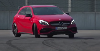 Chris Harris at Frankfurt 2015 show and testing the Mercedes A45 AMG (1)