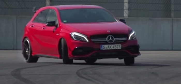 Chris Harris at Frankfurt 2015 show and testing the Mercedes A45 AMG – Video