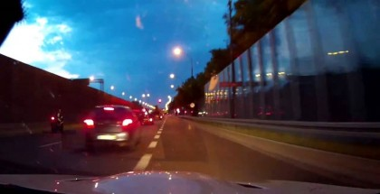 Dangerous and stupid street racing featuring BMW M3 vs motorcycles