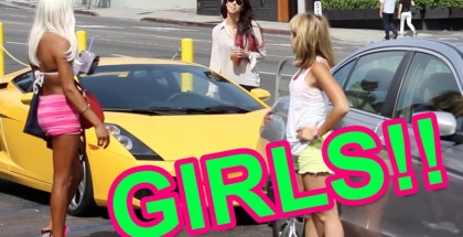 Girl Pranks Guys - Gold Digger Lamborghini Prank (2)