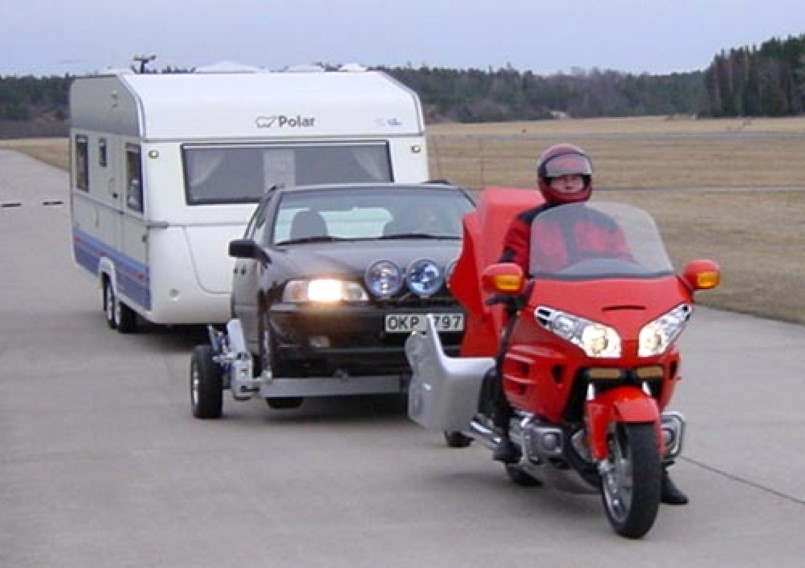 Honda Gold Wing Motorcycle Tow Truck That Tows Cars Dpccars