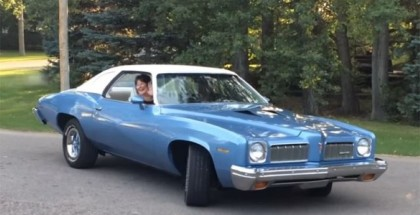 Kids reunite 1973 Pontiac LeMans with parents (3)
