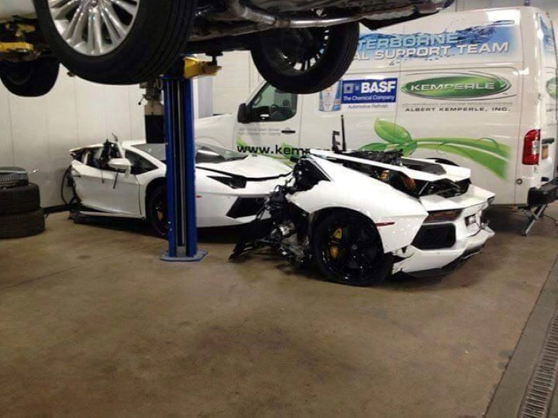 Lamborghini Aventador Split in Half At Mechanic Shop | DPCcars