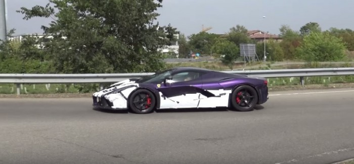Purple Ferrari LaFerrari testing before being delivered to new customer (2)