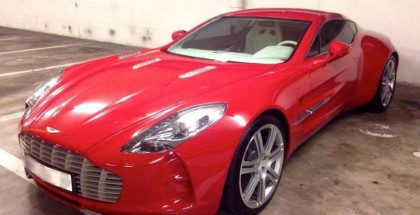 Red Aston Martin One-77 Spotted (2)