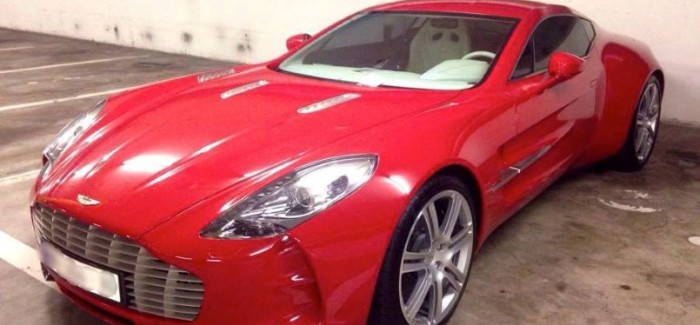 Red Aston Martin One-77 Spotted
