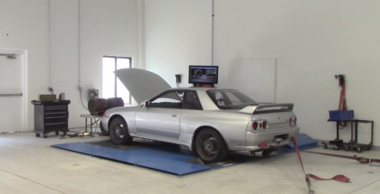 So how much horsepower does a Stock Nissan R32 GT-R make on the dyno (2)