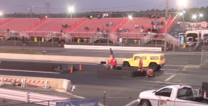 What happens whan you take a Hummer H1 to a Drag Strip (2)