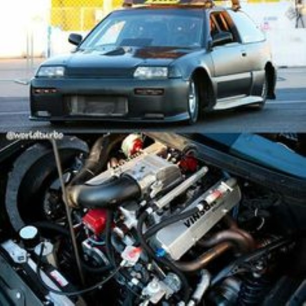 1000hp 1989 Honda Civic V8 Twin Turbo Video 1