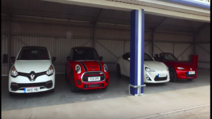 2015 Mazda MX-5 vs Mini Cooper S JCW, Renault Clio RS 220 Trophy and Toyota GT 86 (1)