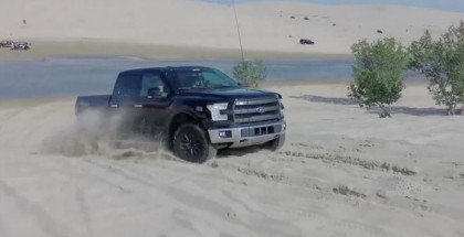 2017 Ford F-150 Raptor Prototype Testing at Silver Lake (1)