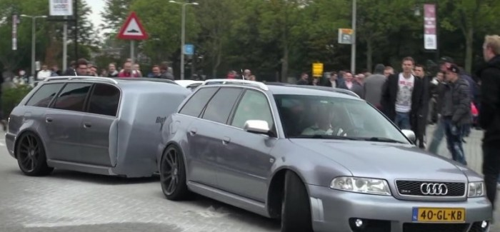 Audi RS4 with matching trailer – Video