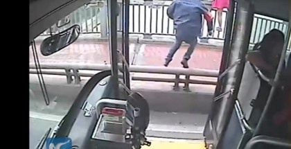 Bus driver stops woman from jumping off a bridge
