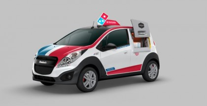 Domino's Pizza unvails Chevy Spark-based delivery car
