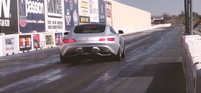 Drag Racing - 670HP Mercedes-AMG GT by Weistec runs 10s (1)