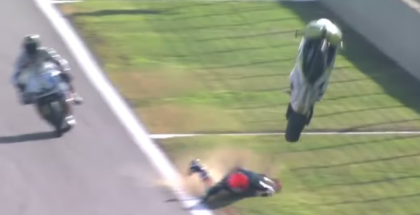 Gino Rea scary motorcycle race crash