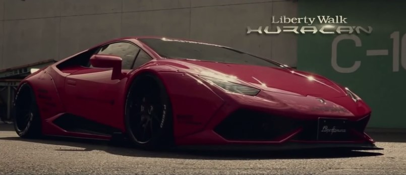 insane liberty walk lamborghini huracan with fi exhaust. Black Bedroom Furniture Sets. Home Design Ideas