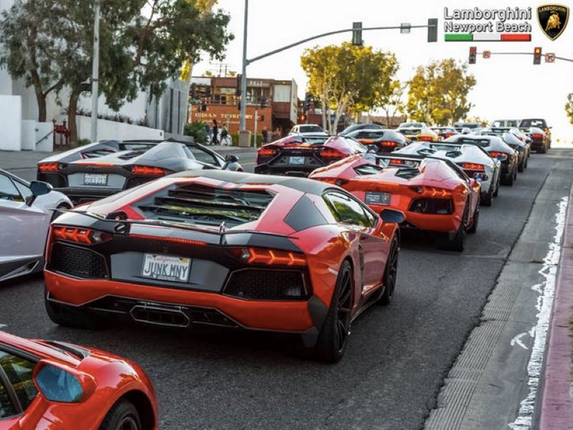 High Quality Lamborghini Aventador Meet At Lamborghini Newport Beach (1)