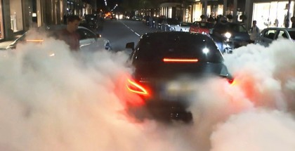 Mercedes CLS AMG burnout insanity on London streets