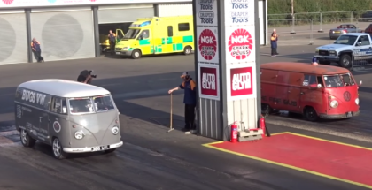 Over 1000HP worth of VW Bus drag race (1)