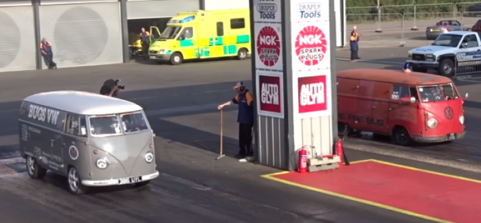 Over 1000hp Worth Of Vw Bus Drag Race Video Dpccars