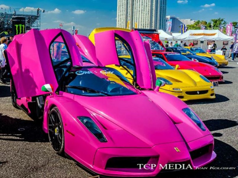 Pink Ferrari Enzo In Japan Dpccars