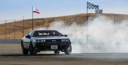 Stanford's self-driving, electric, drifting DeLorean